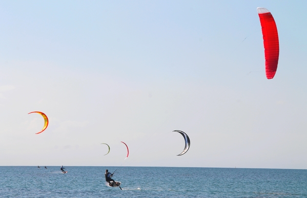 Aujourd'hui le vent souffle sur la Presqu'île de Giens. Quelle plage choisir : la plage de l'Almanarre ? la Badine, la Bergerie, la Capte ?