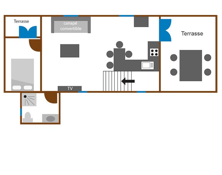Appartamento 2 stanze 48m? 4 persone con terrazzo 23M? ...